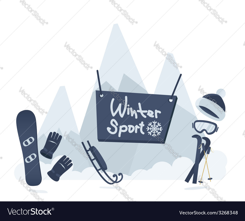 Winter sport poster design vector | Price: 1 Credit (USD $1)
