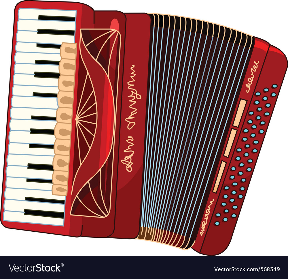 Beautiful accordion vector | Price: 1 Credit (USD $1)