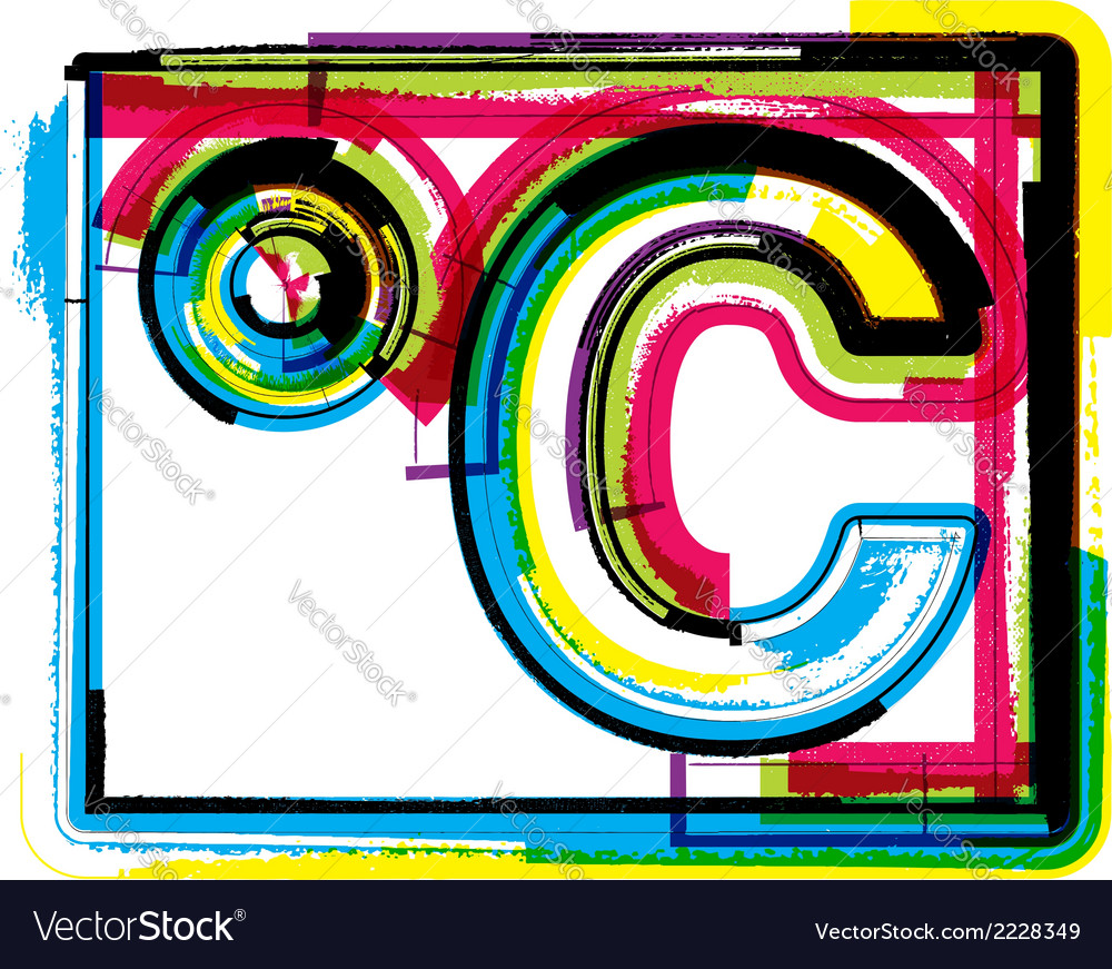 Colorful grunge symbol vector | Price: 1 Credit (USD $1)