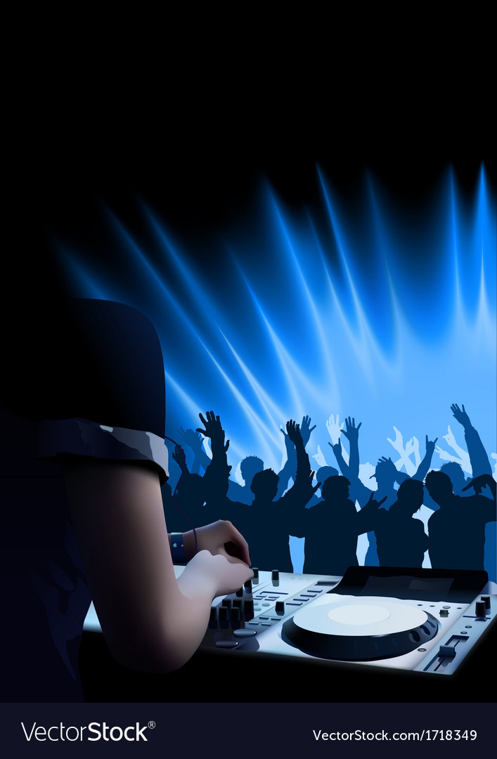 Dj dance party background vector | Price: 1 Credit (USD $1)