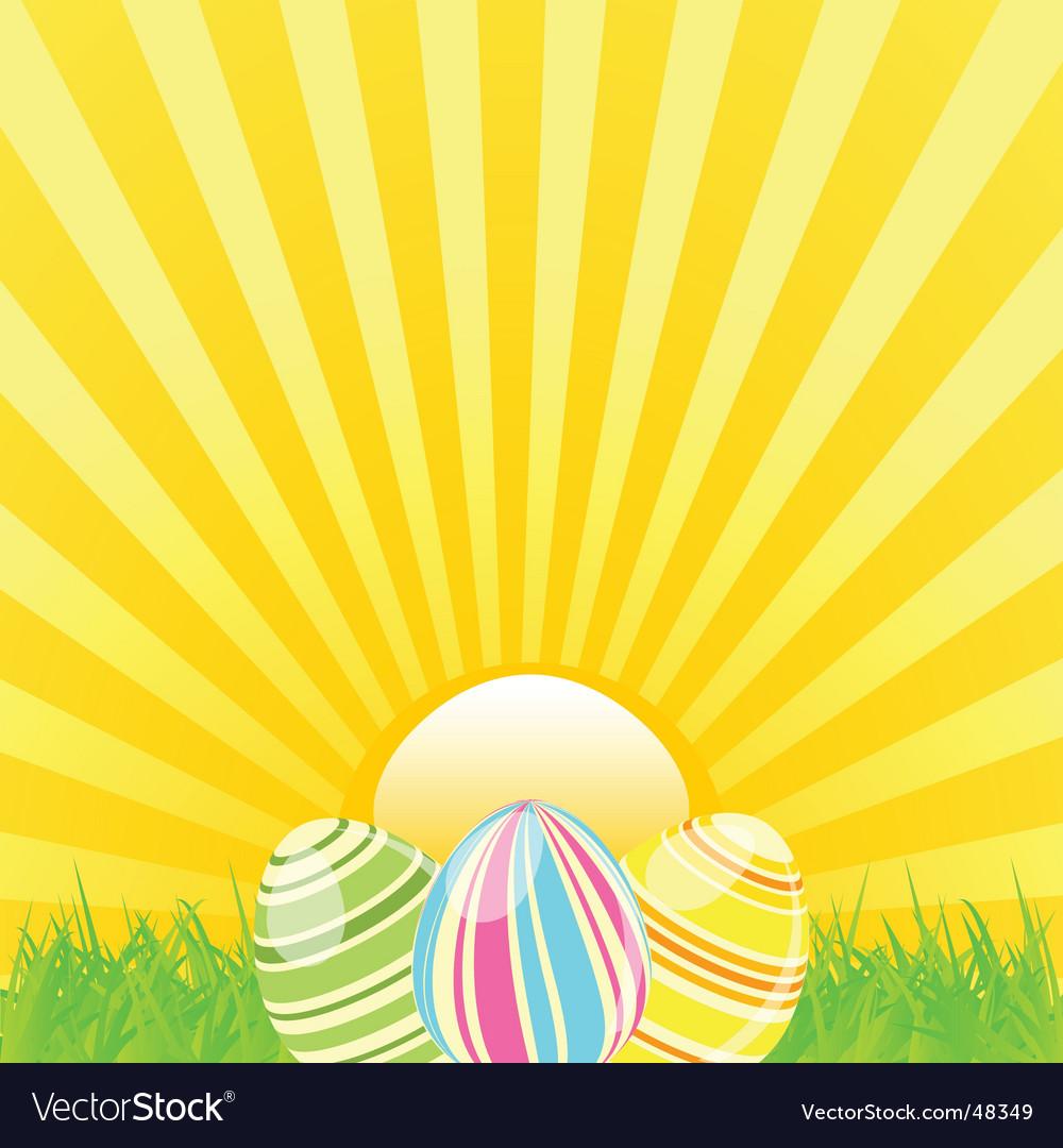 Easter sunshine background vector | Price: 1 Credit (USD $1)