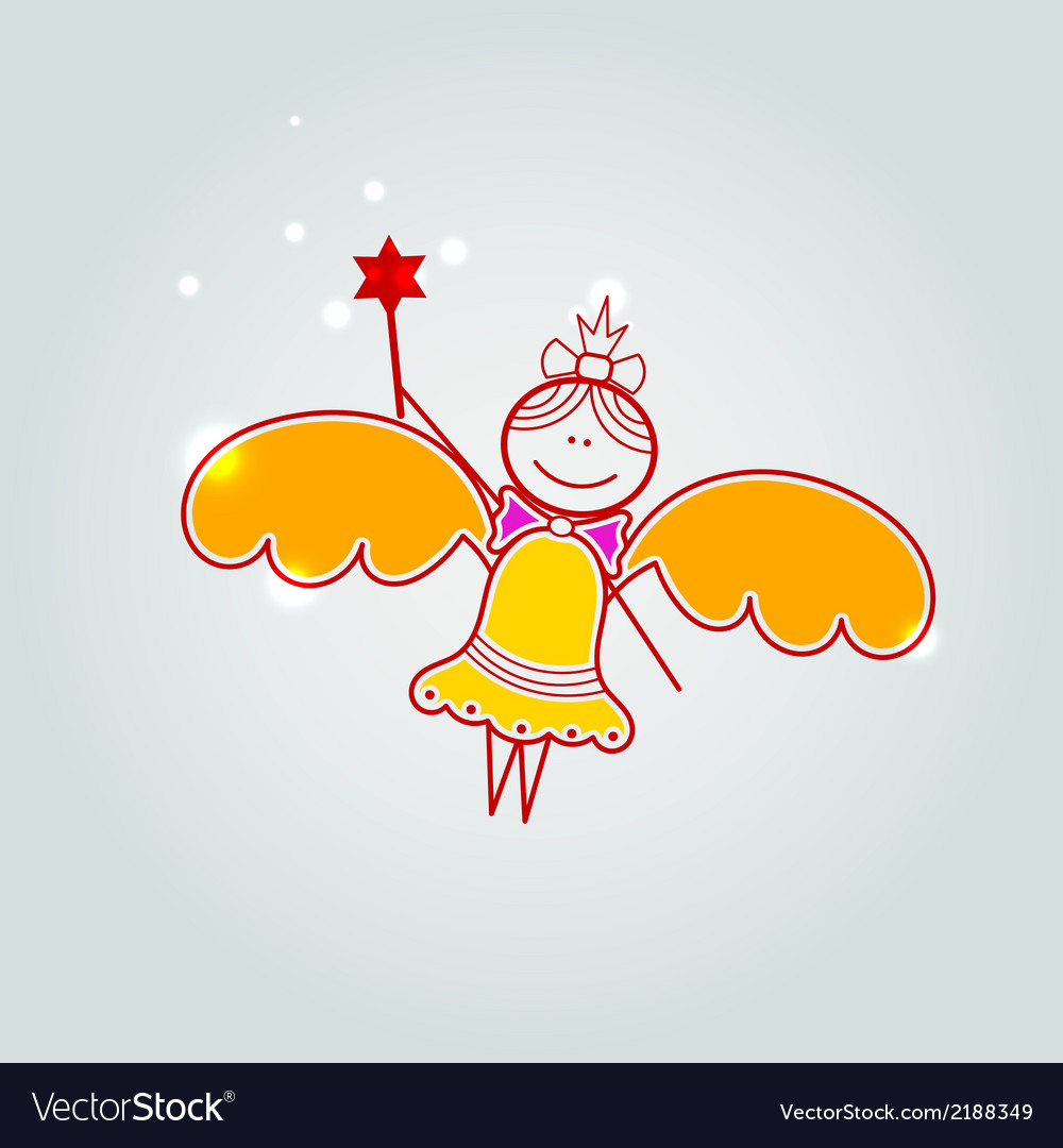 Gift card with little fairy vector   Price: 1 Credit (USD $1)