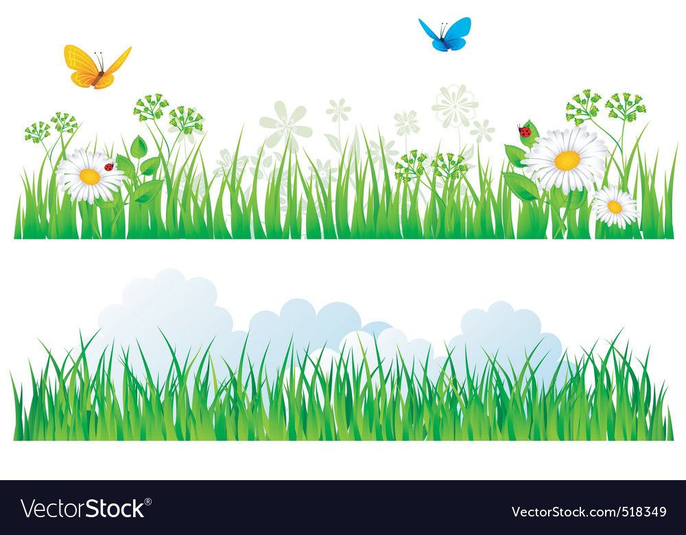 Grass border vector | Price: 3 Credit (USD $3)