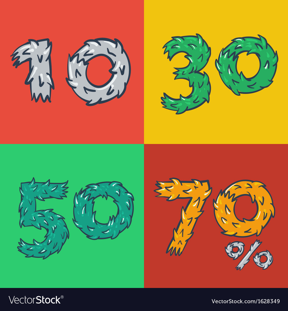 Hot sale poster with percent discount vector | Price: 1 Credit (USD $1)
