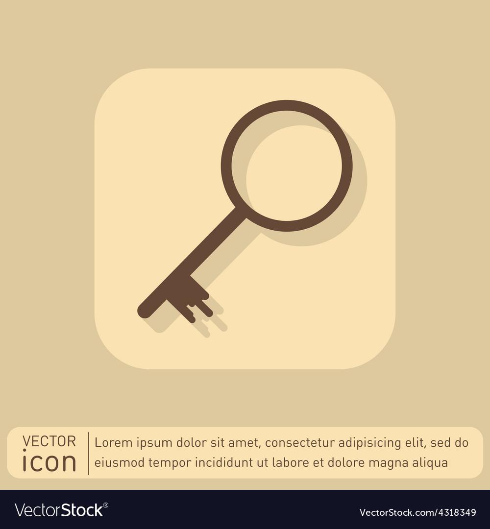 Key symbol icon vector | Price: 1 Credit (USD $1)