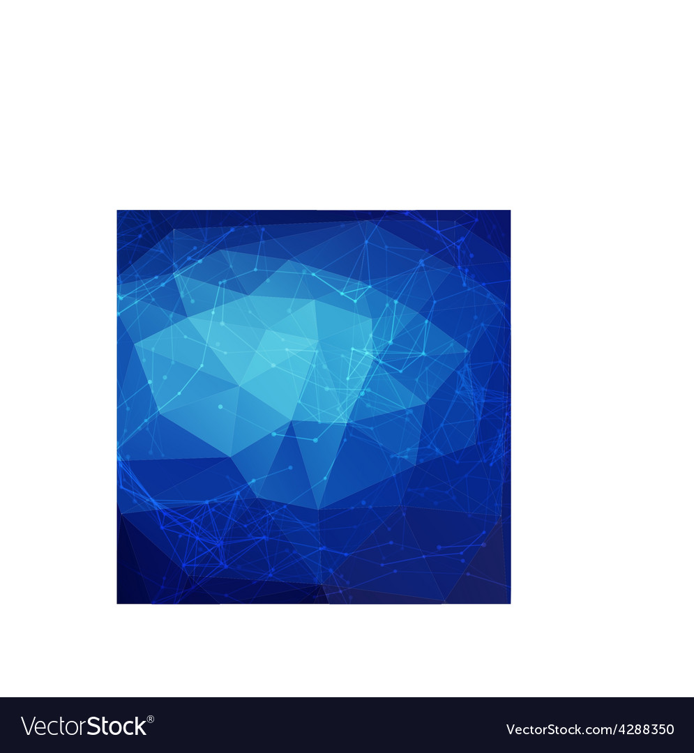 Abstract blue low poly bright technology vector | Price: 1 Credit (USD $1)