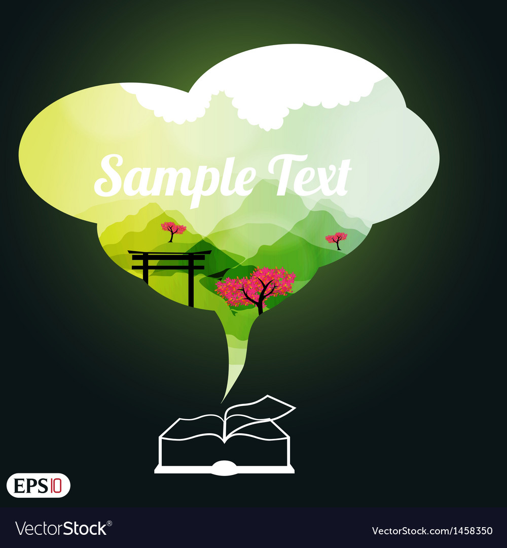 Book with space for text vector   Price: 1 Credit (USD $1)