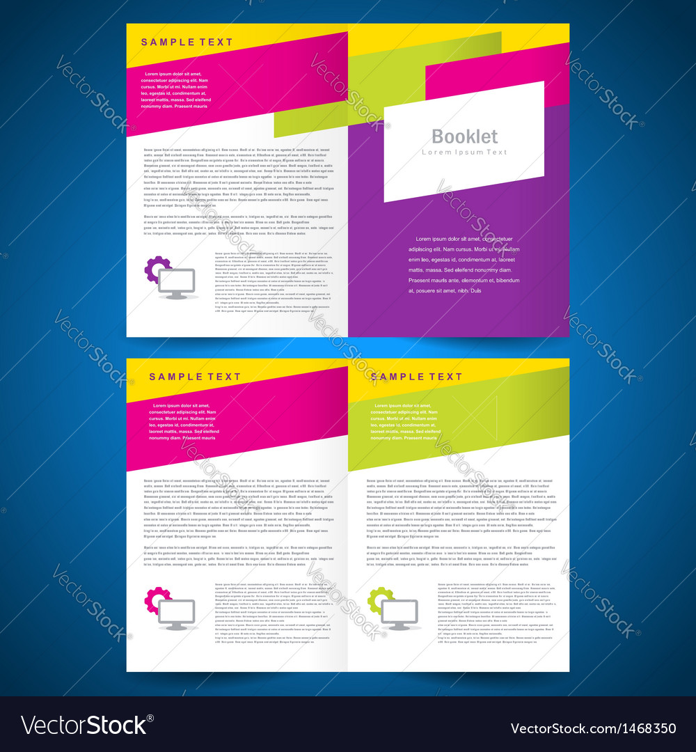 Booklet catalog brochure folder colorful line vector | Price: 1 Credit (USD $1)