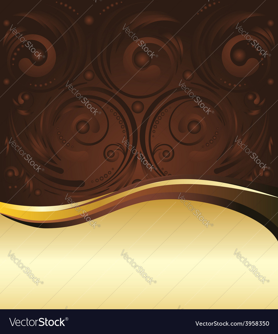 Brown and gold background3 vector | Price: 1 Credit (USD $1)