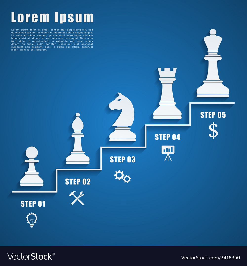 Chess infographic vector | Price: 1 Credit (USD $1)