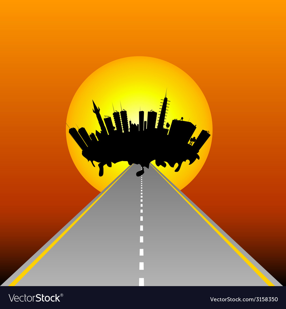 City and road vector | Price: 1 Credit (USD $1)