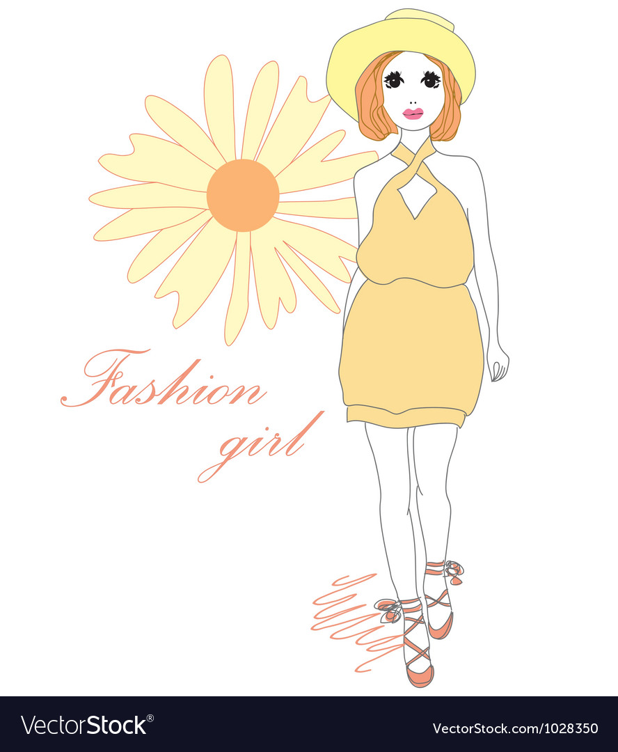 Fashion girl vector | Price: 1 Credit (USD $1)