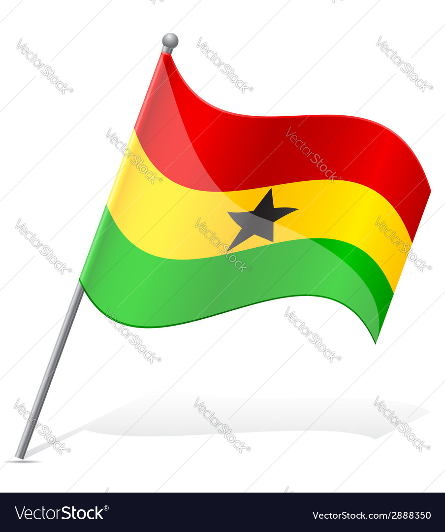 Flag of ghana vector | Price: 1 Credit (USD $1)