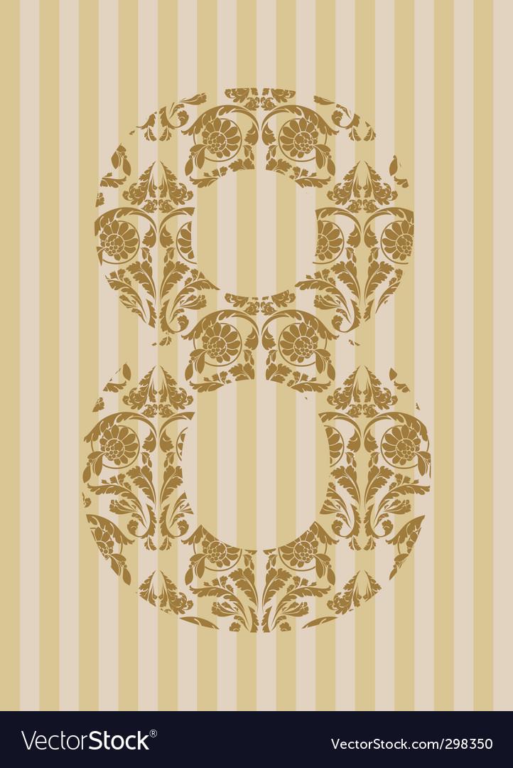 Floral font number vector   Price: 1 Credit (USD $1)