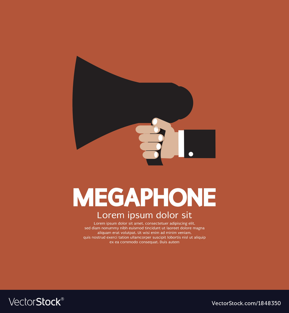 Hand holding a megaphone vector | Price: 1 Credit (USD $1)