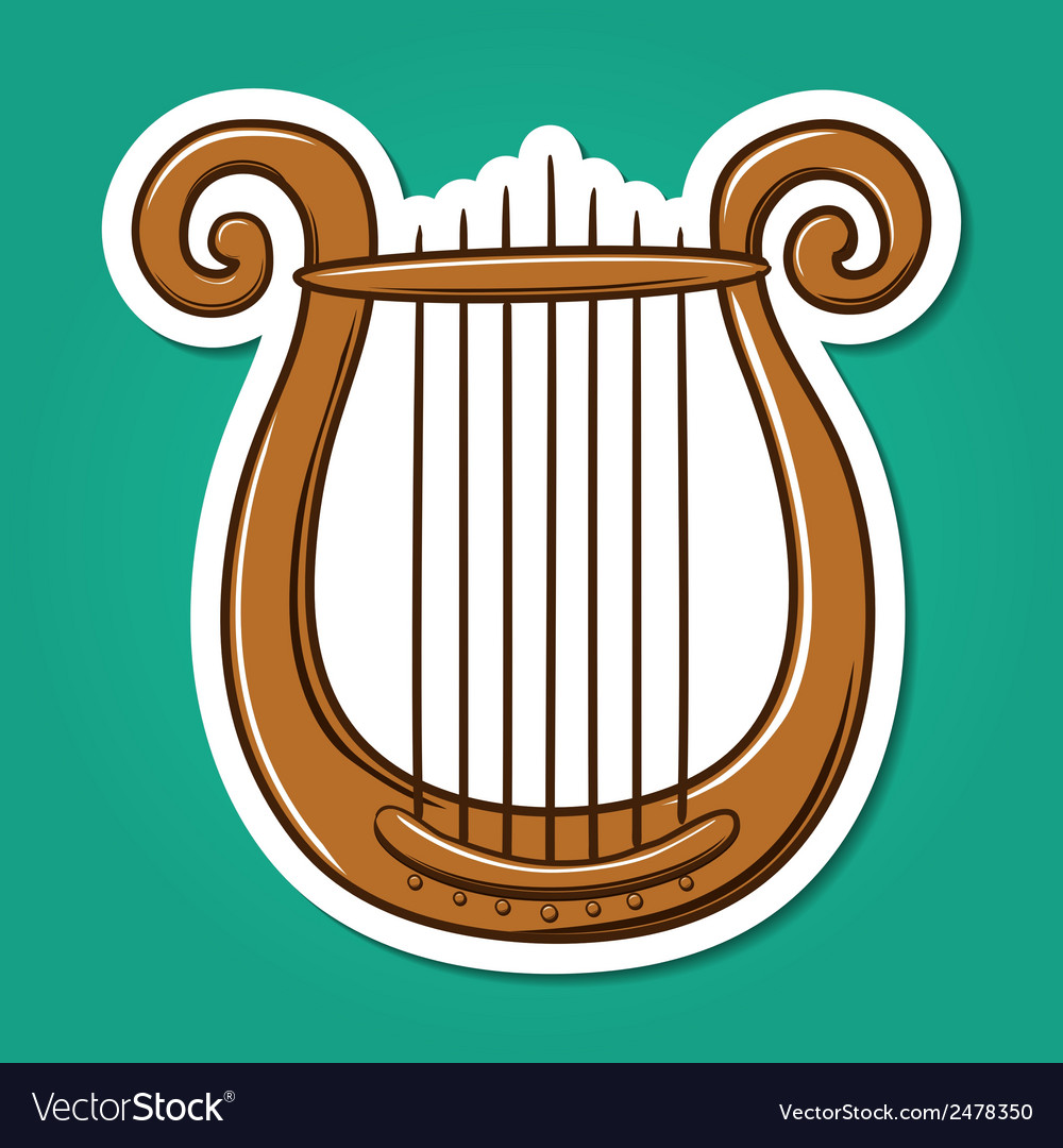 Lire musical instrument vector | Price: 1 Credit (USD $1)