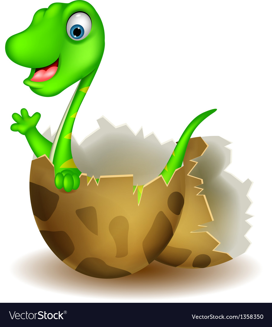 Little dinosaur birth vector | Price: 1 Credit (USD $1)