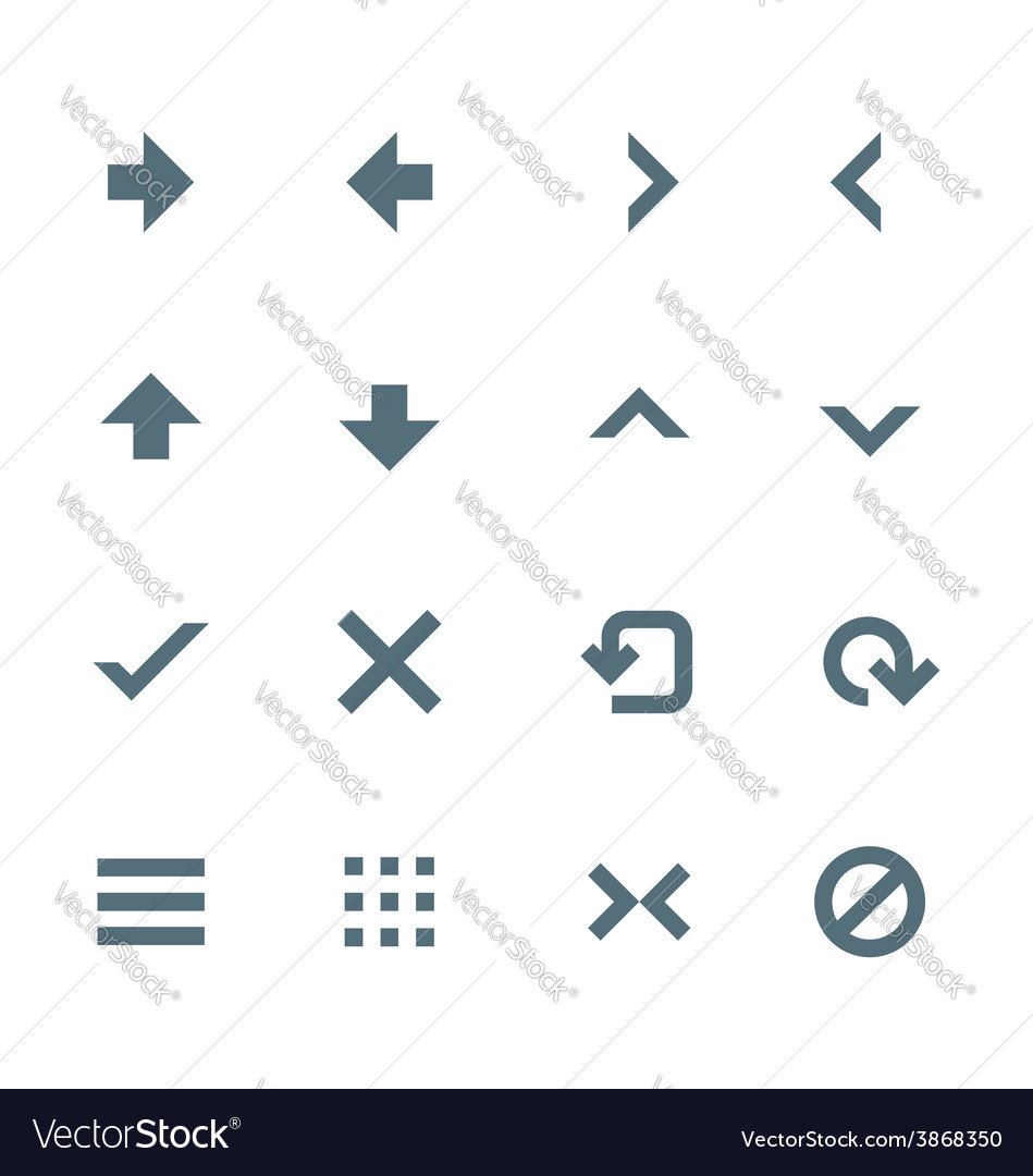 Solid grey various navigation menu buttons icons vector | Price: 1 Credit (USD $1)