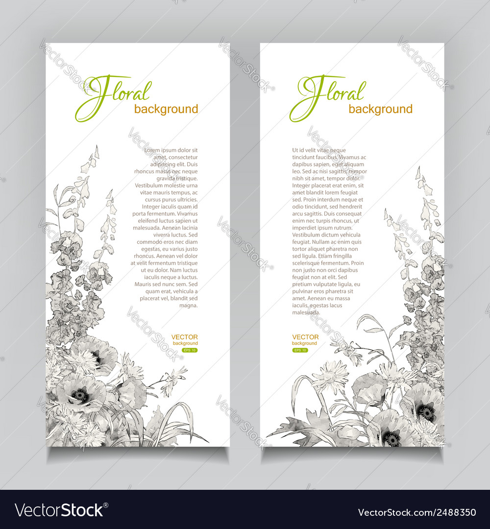Vintage floral banner vector | Price: 1 Credit (USD $1)