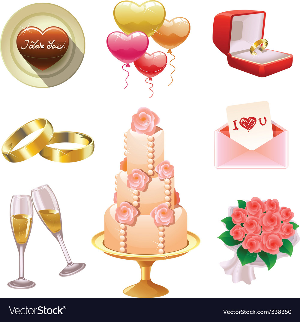Wedding set vector | Price: 3 Credit (USD $3)