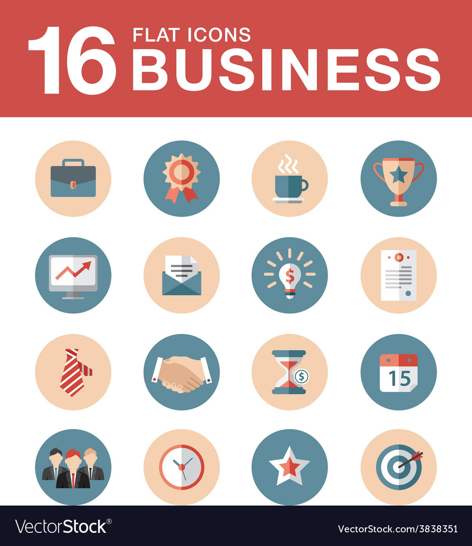 Collection of colorful flat business and vector | Price: 1 Credit (USD $1)
