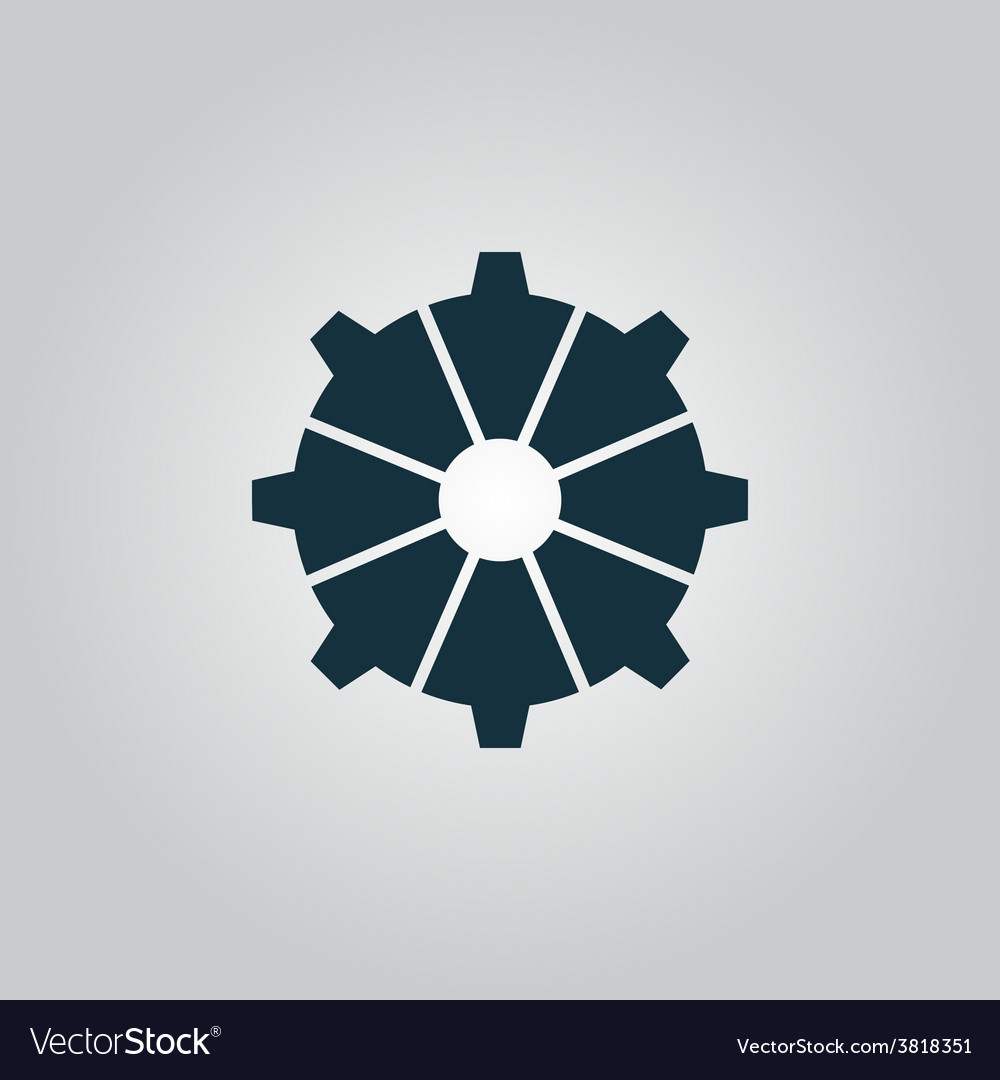Gear icon  flat design style vector | Price: 1 Credit (USD $1)