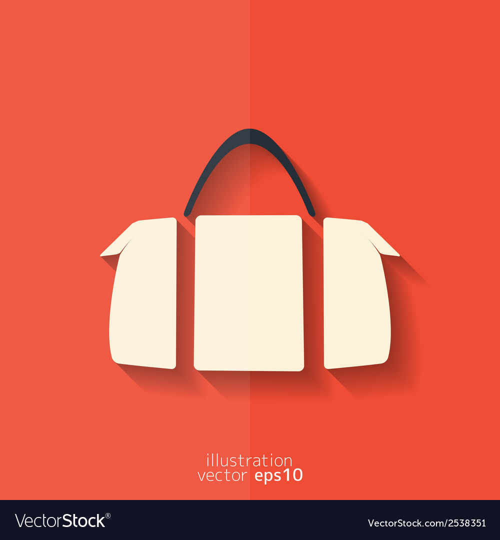 Hipster modern bag icon vector | Price: 1 Credit (USD $1)