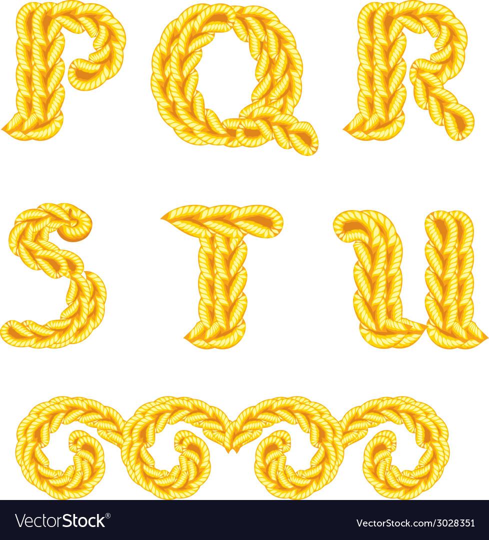 Knitted alphabet p u vector | Price: 1 Credit (USD $1)