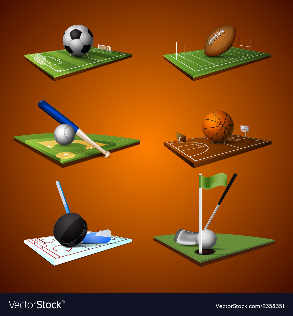 Sport emblem icons set vector | Price: 1 Credit (USD $1)