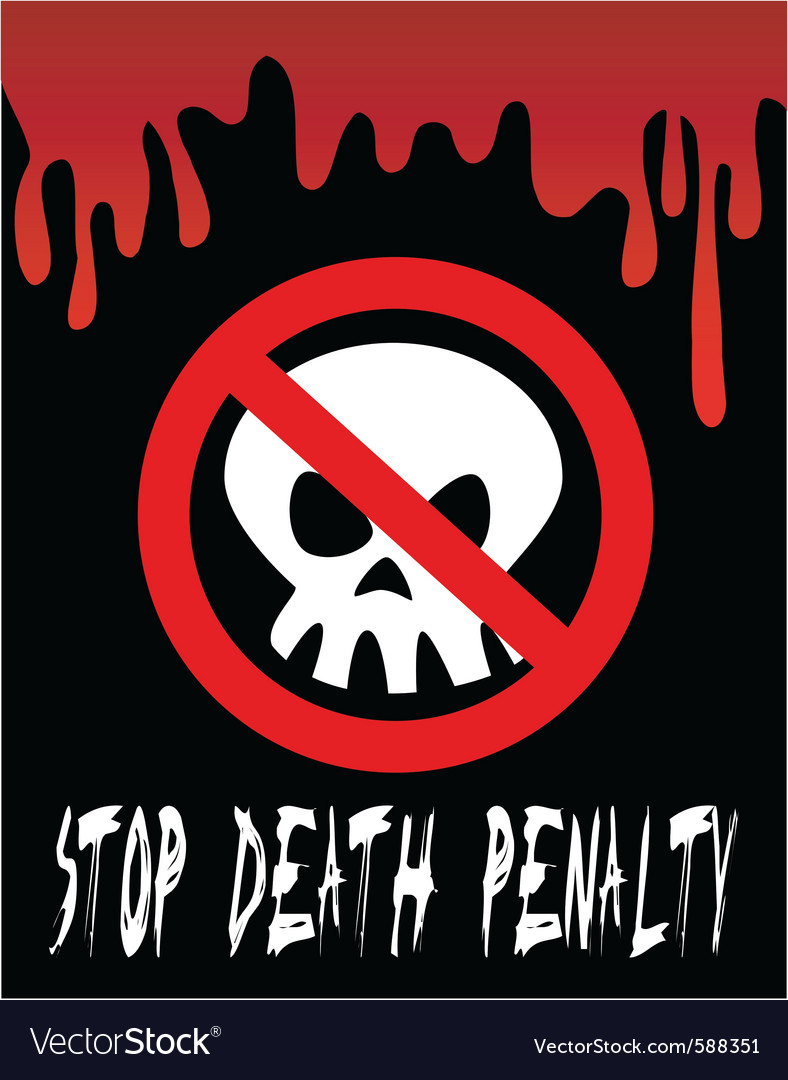 Stop death penalty vector | Price: 1 Credit (USD $1)