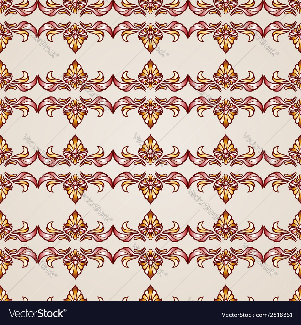 Vintage seamless floral background vector | Price: 1 Credit (USD $1)