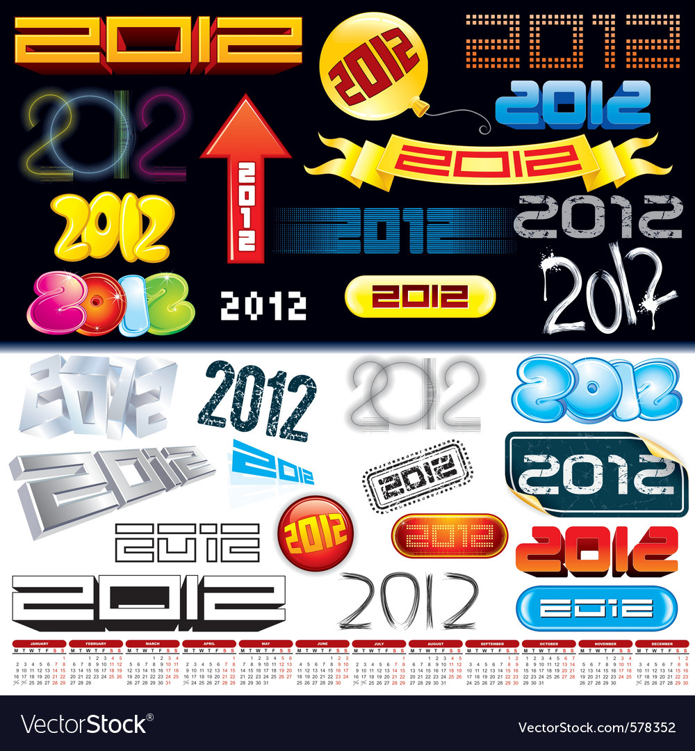 2012 logos vector | Price: 1 Credit (USD $1)