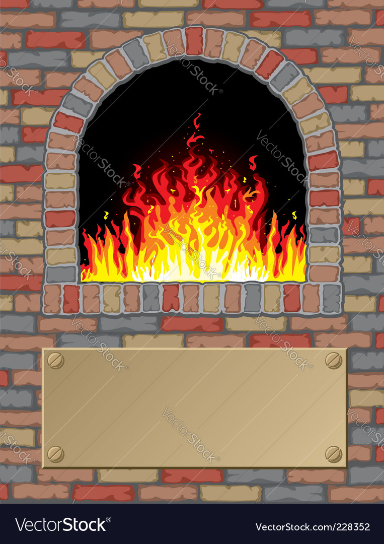 Antique fire place vector | Price: 1 Credit (USD $1)