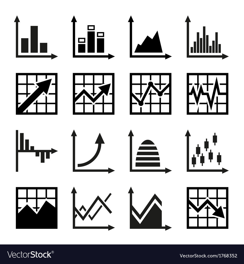 Business chart and graphics icons set vector | Price: 1 Credit (USD $1)
