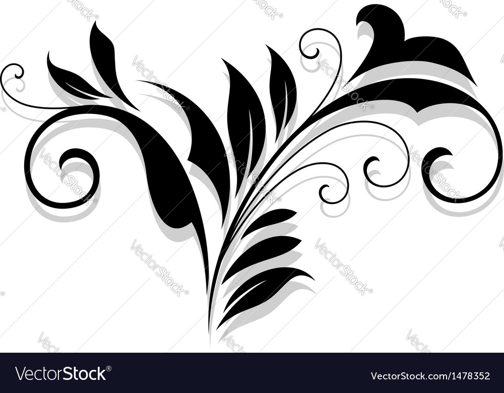 Flourish design element vector | Price: 1 Credit (USD $1)