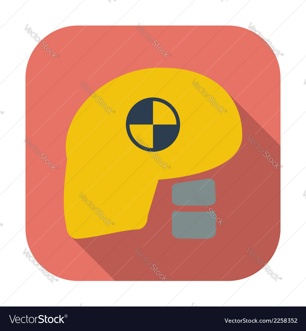Icon dummys head for crash test vector | Price: 1 Credit (USD $1)
