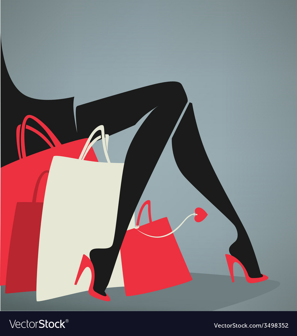 Legs and bags vector | Price: 1 Credit (USD $1)