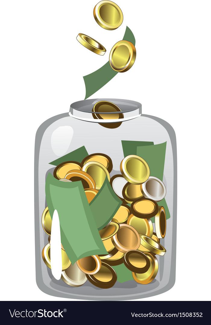 Money jar vector | Price: 3 Credit (USD $3)