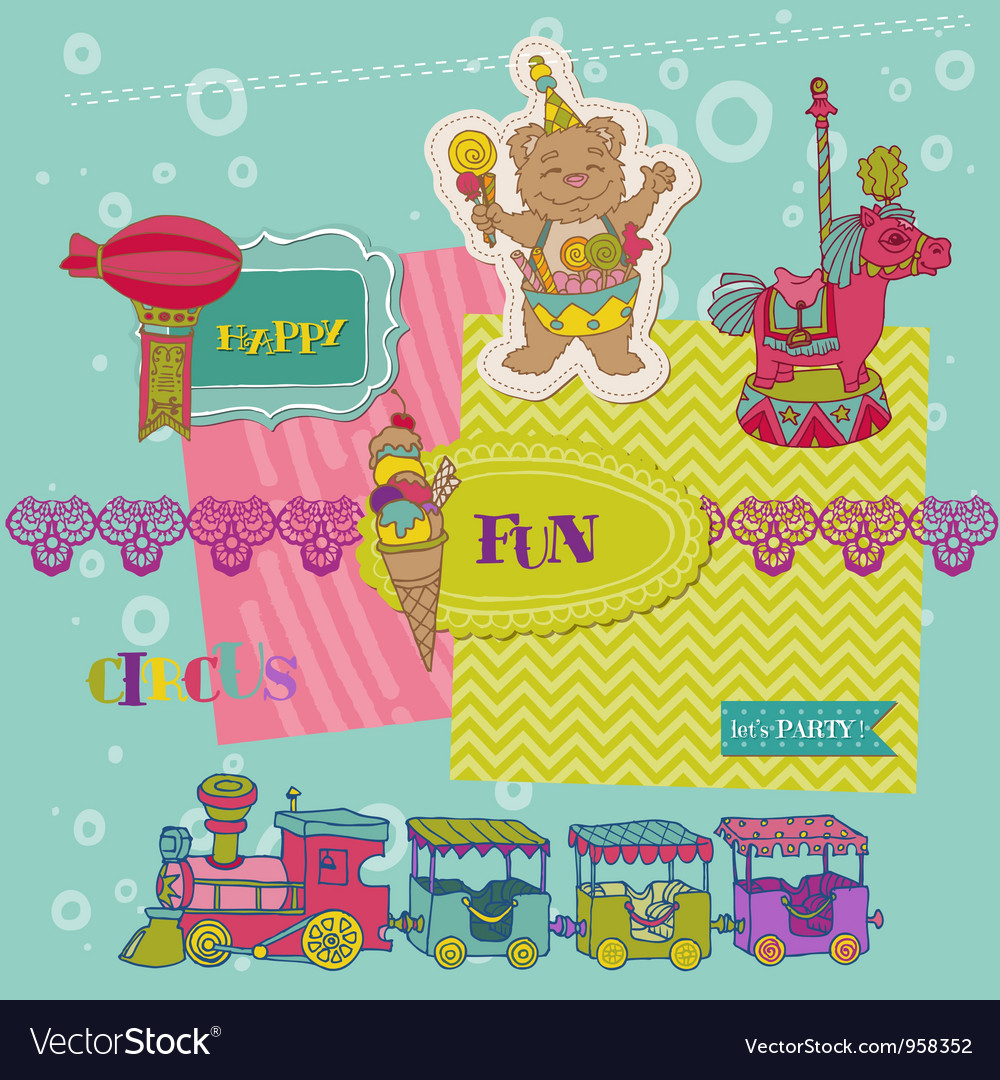 Scrapbook design elements - birthday party child vector | Price: 1 Credit (USD $1)