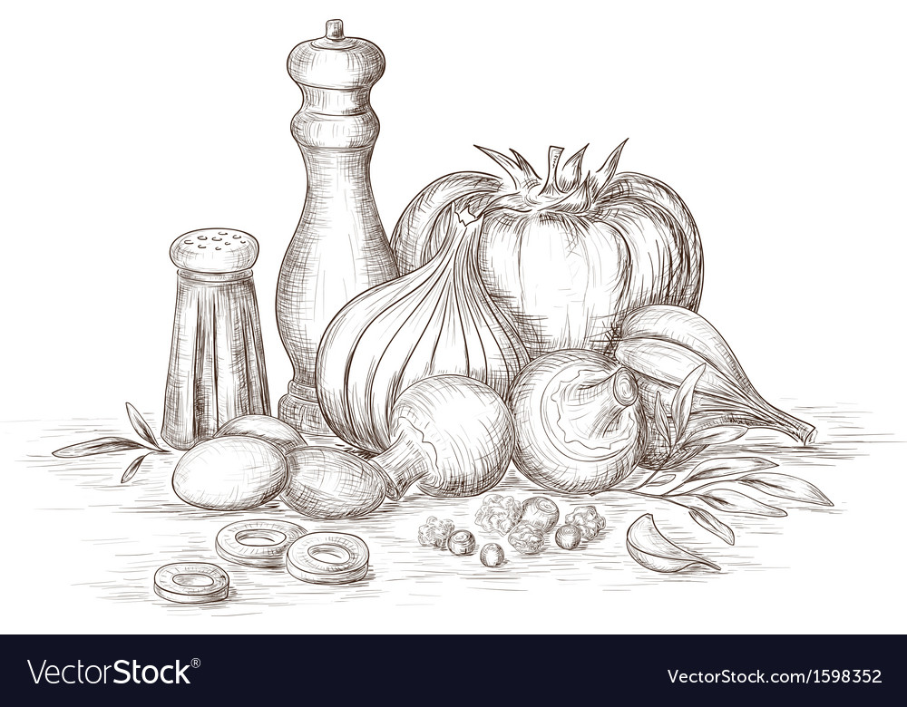 Still life of spices vector | Price: 1 Credit (USD $1)
