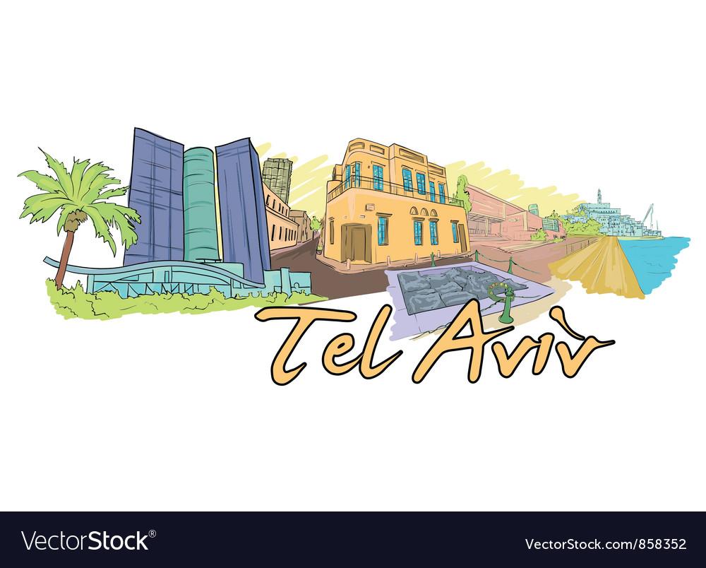 Tel aviv doodles vector   Price: 1 Credit (USD $1)