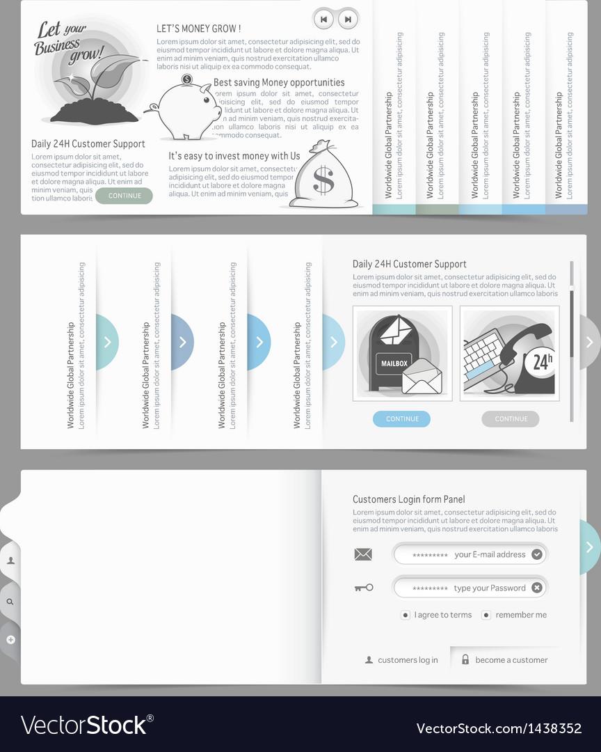Website design menu navigation vector | Price: 1 Credit (USD $1)