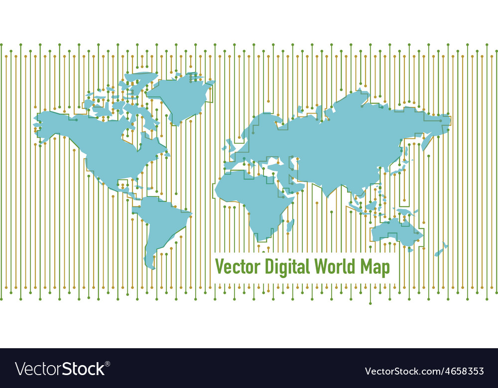 Background digital world map vector | Price: 1 Credit (USD $1)