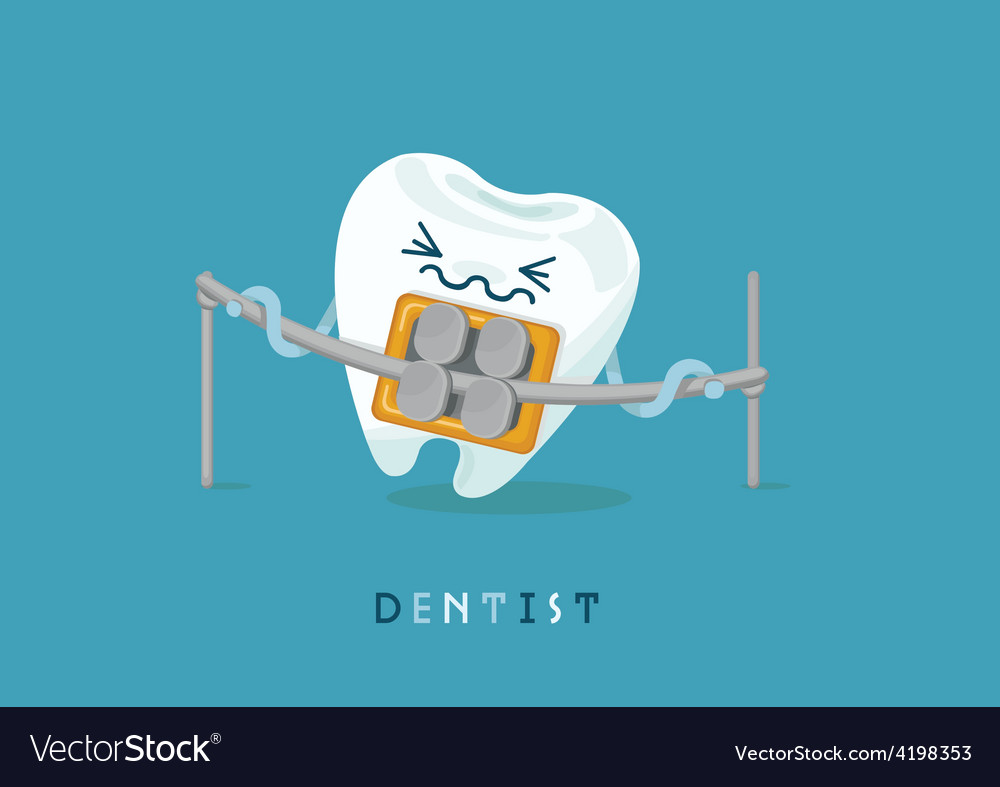 Braces tooth vector | Price: 3 Credit (USD $3)