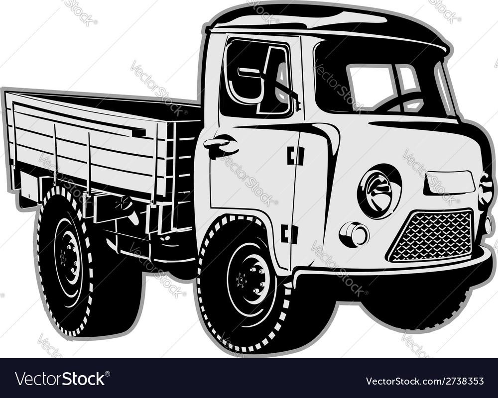 Cartoon delivery cargo pickup vector | Price: 1 Credit (USD $1)