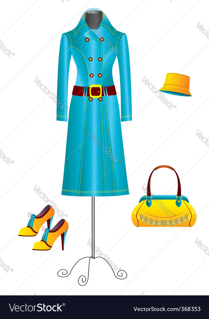 Clothes for woman vector