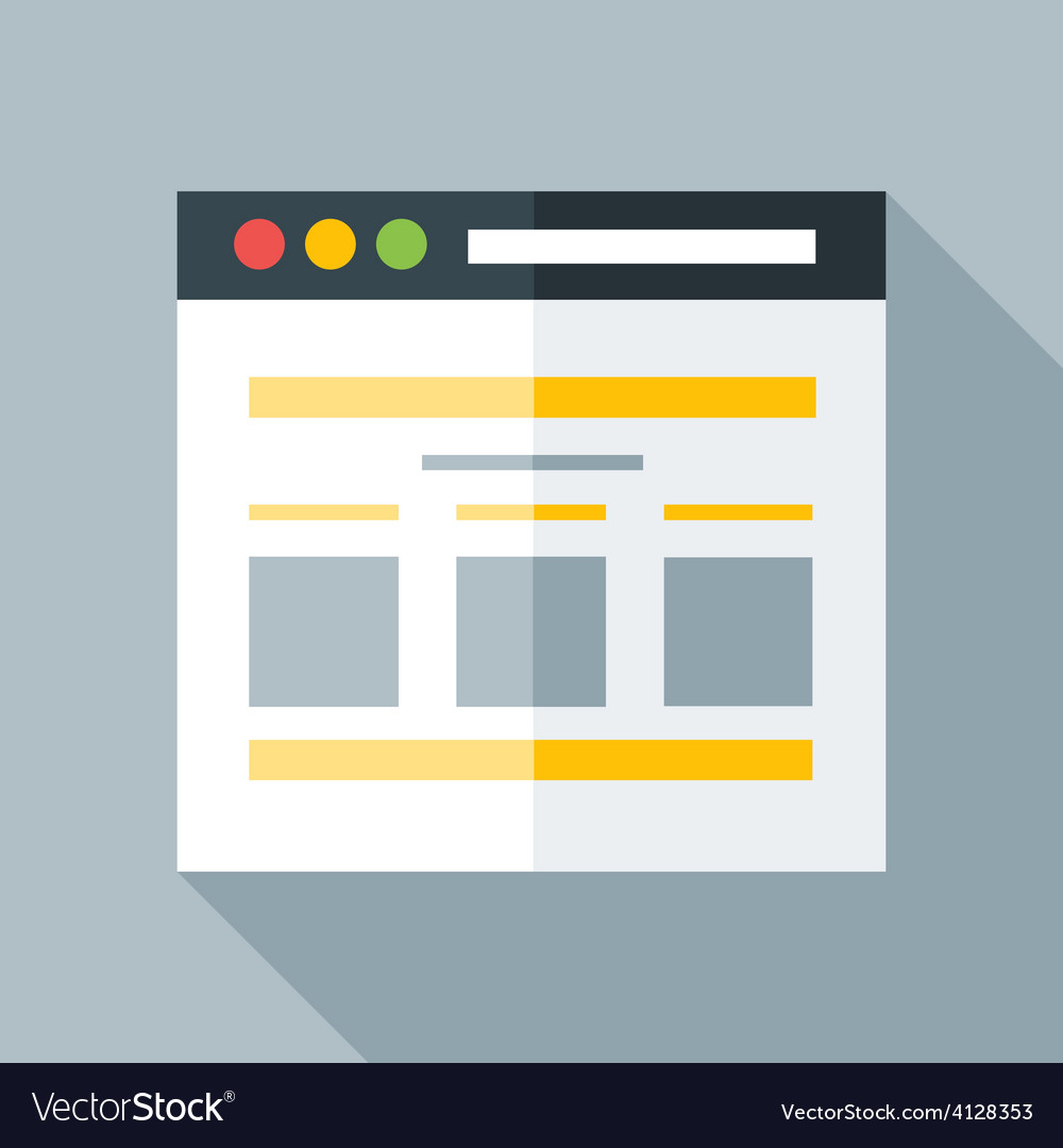 Flat stylized webpage vector | Price: 1 Credit (USD $1)