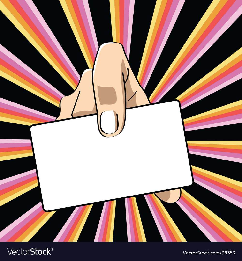 Hand with banner vector | Price: 1 Credit (USD $1)