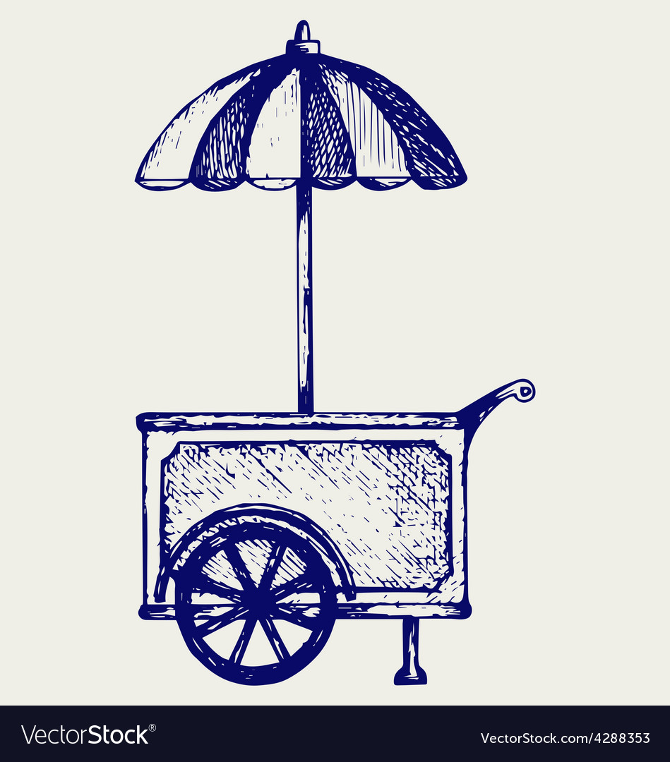 Ice cream cart vector   Price: 1 Credit (USD $1)