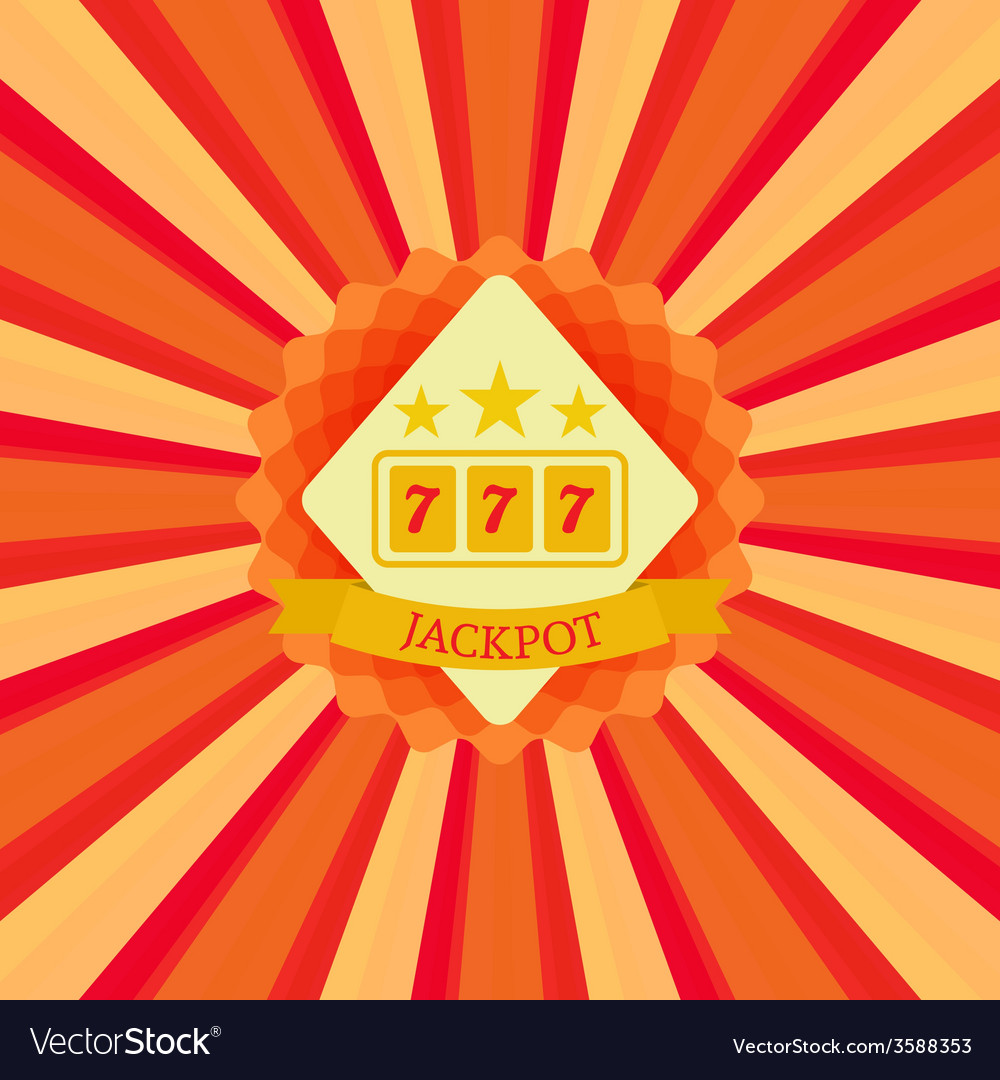 Jackpot and sevens vector | Price: 1 Credit (USD $1)